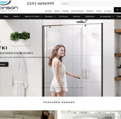 ptranson bathrooms e-commerce