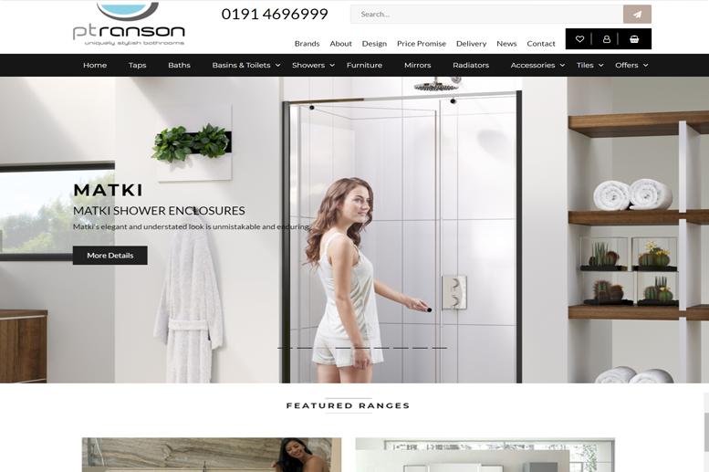 ptranson bathrooms e-commerce