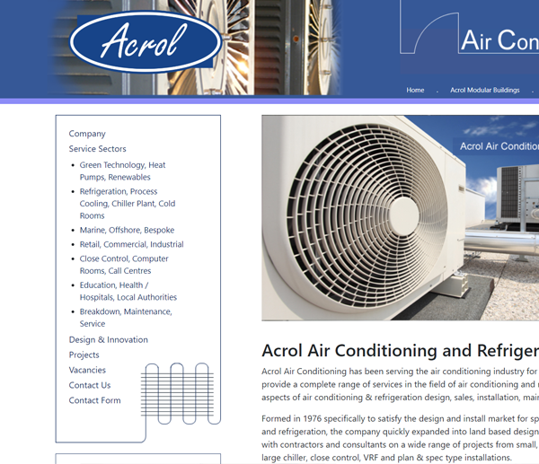 acrol air conditioning word press website