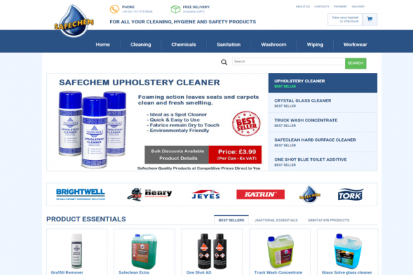 safechem e-commerce wordpress