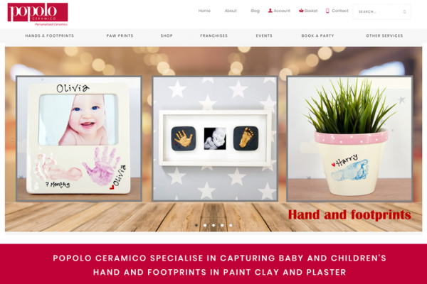 popolo ceramico wordpress e-commerce web design