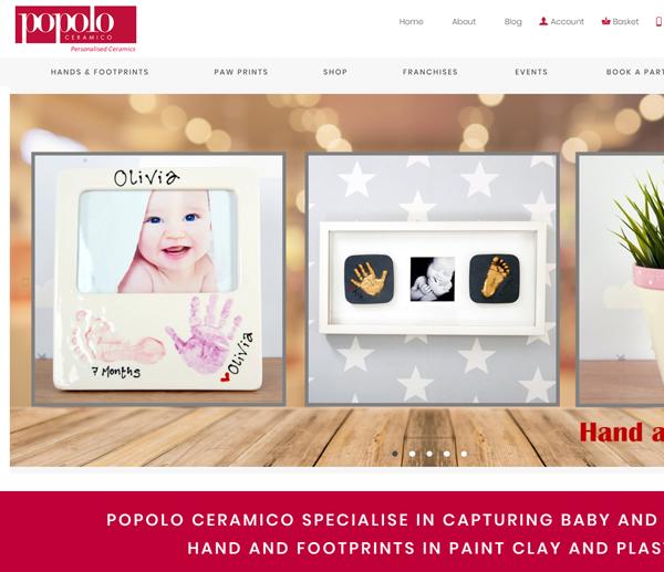 popolo ceramico wordpress e-commerce web design
