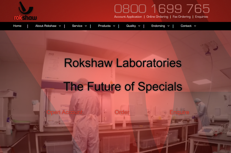 Rokshaw Pharmaceuticals WordPress Website and Custom Online Ordering Software Systems